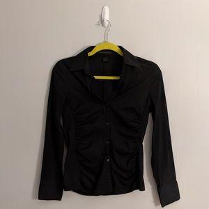 3/$25 Express Design Studio Black Ruched Shirt